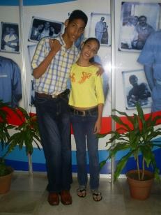 Junto a mi hermana, Amandita