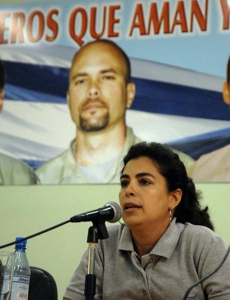 Adriana Pérez, esposa de Gerardo Hernández, uno de los 5 Héroes de la República de Cuba, prisioneros injustamente en cárceles de los Estados Unidos