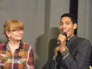 """Jorgito en la premier del documental """"El poder de los débiles"""" en el cine Babylon en Berlín, Alemania."""